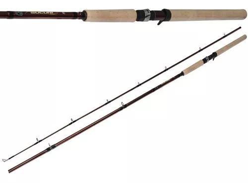 Vara pesca carretilha carbono maruri sucuri 2,40m 35-70lb