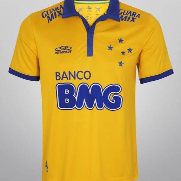 Camisa oficial do cruzeiro amarela edição especial copa do