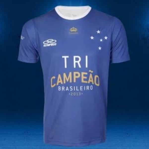 Camisa oficial do cruzeiro edição especial tricampeão
