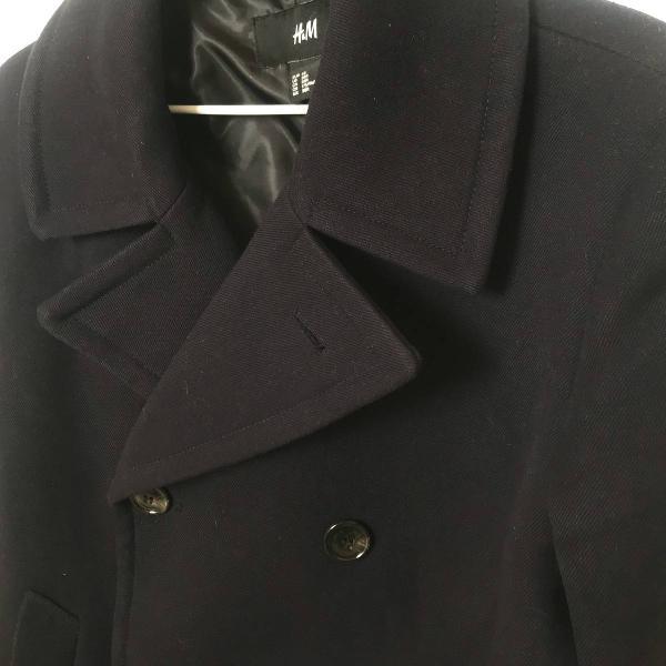 casaco h&m azul marinho