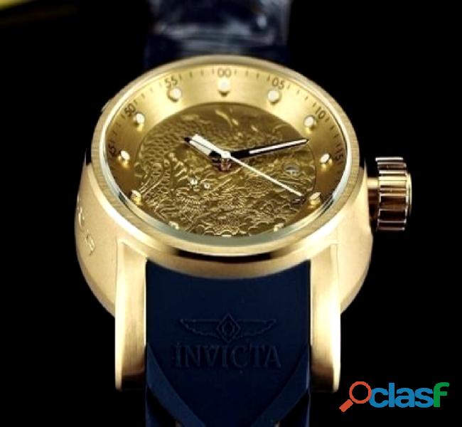 Kit com 04 relógios invicta yakuza s1 dragon/cores variadas para revenda