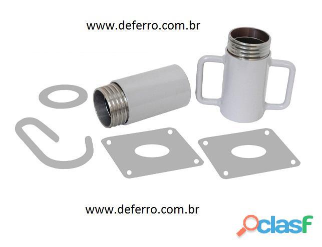 Kit de Rosca p Escora de Ferro Caneca Rosca Luva Porca 47988121181