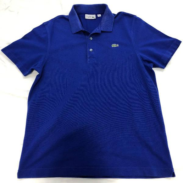 Lacoste camisa polo masculina tamanho m azul