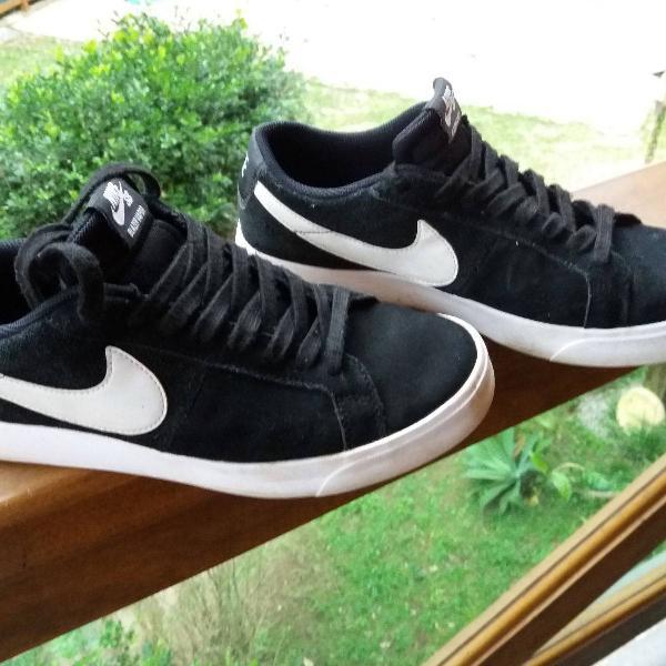 Nike sb blazer vapor preto pouco uso,tamanho 9