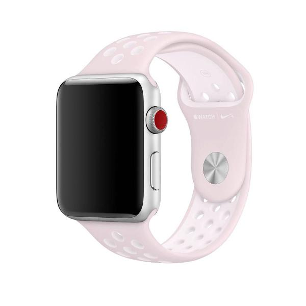 Pulseira apple watch 42mm e 44mm de silicone da nike na cor