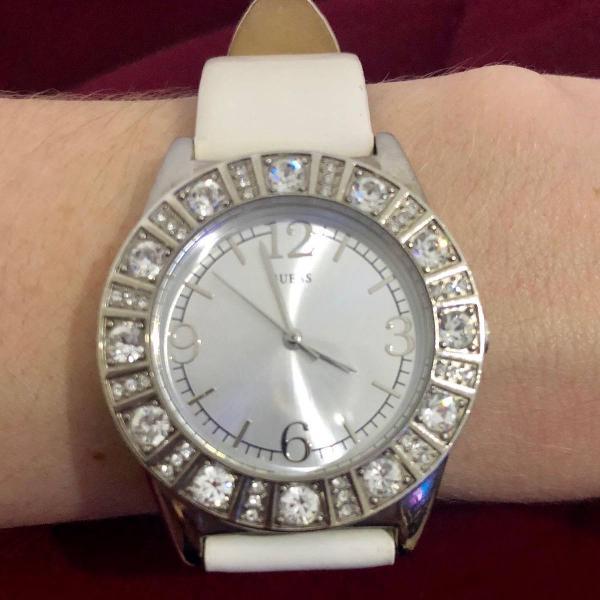 Relógio branco guess original
