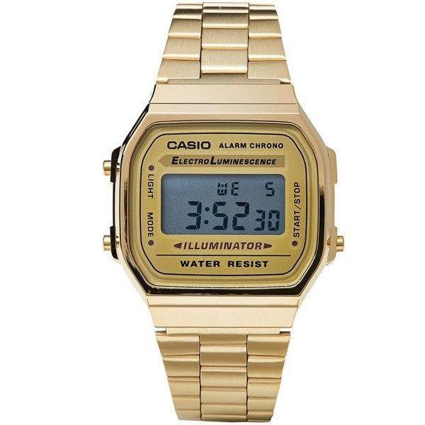Relógio casio a168 unissex dourado