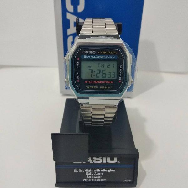 Relógio casio a168wa-1unissex original