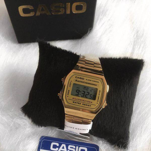 Relógio casio rose vintage unisex