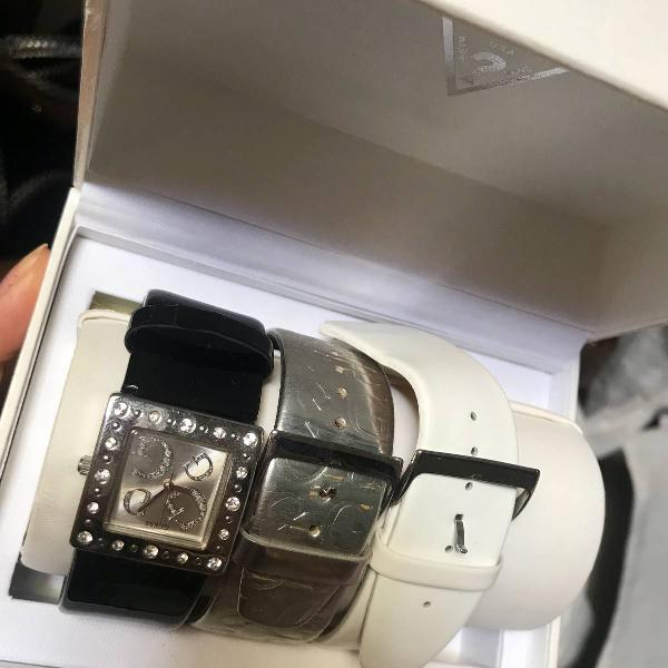 Relógio com 3 pulseiras