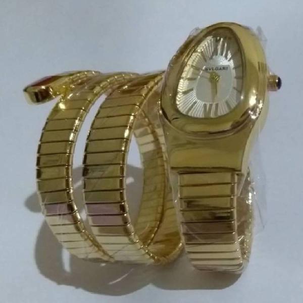 Relógio de pulso bvlgari dourado