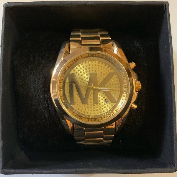 Relógio dourado michael kors rp