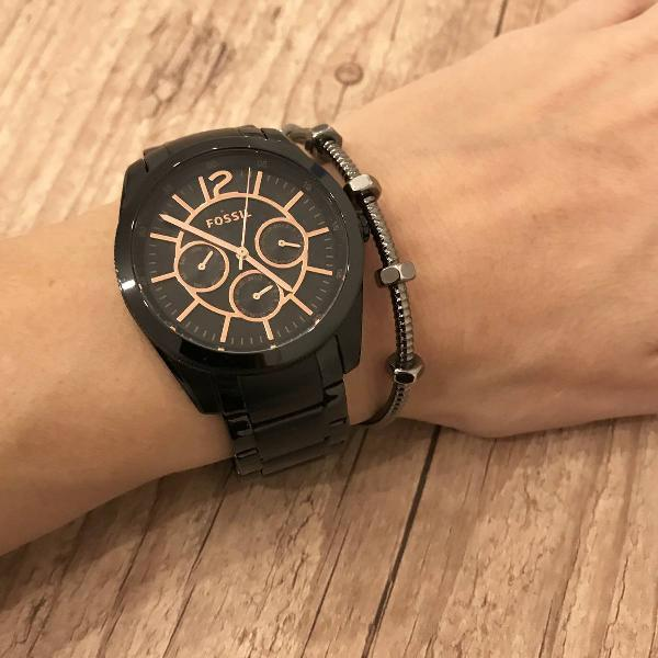Relógio fossil original preto