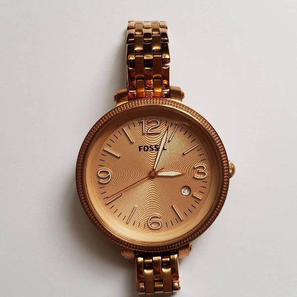 Relógio fossil rose gold