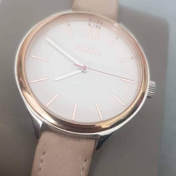 Relógio fóssil feminino rosa