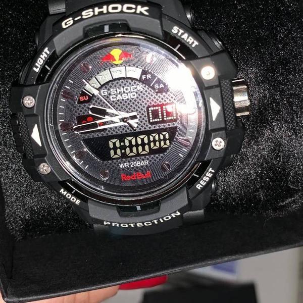 Relógio g-shock analógico digital preto