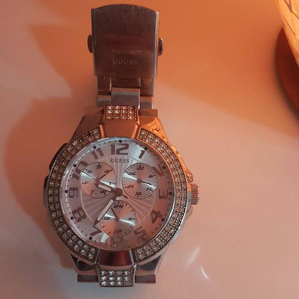 Relógio guess original prata