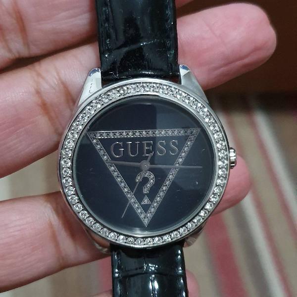 Relógio guess pulseira couro