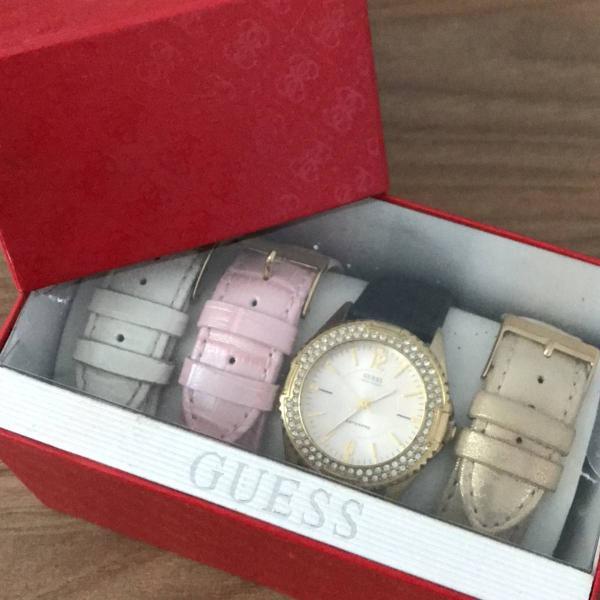 Relógio guess! troca pulseiras