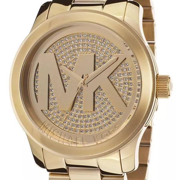 Relógio mk michael kors mk5706 dourado com crista com caixa