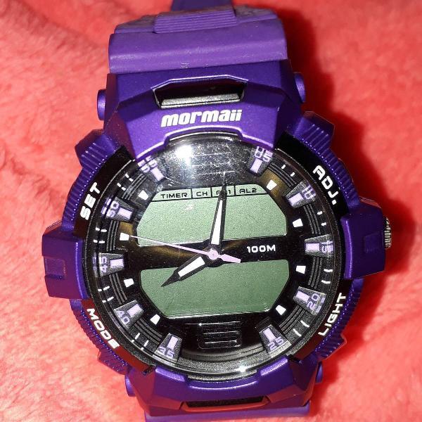Relógio mormaii roxo