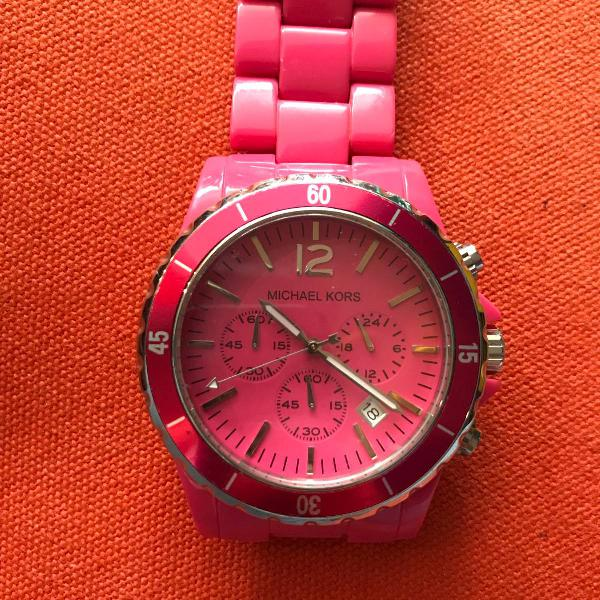 Relógio pink michael kors