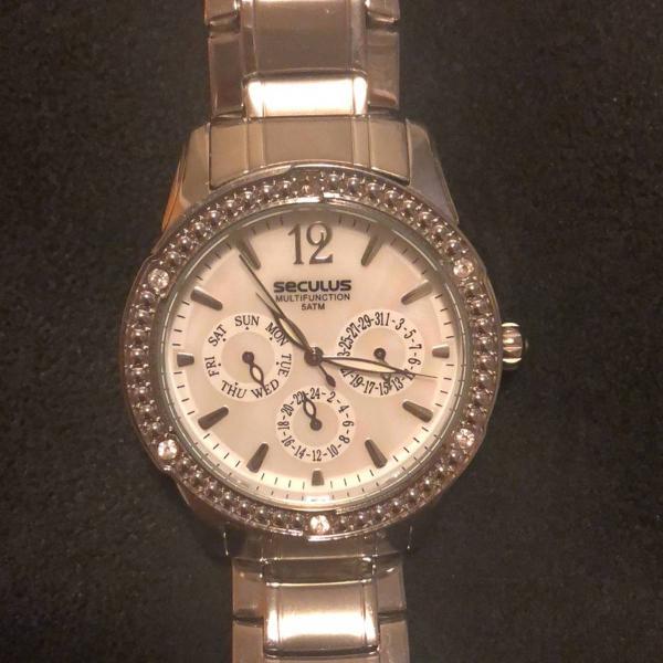 Relógio prata/prateado feminino seculus