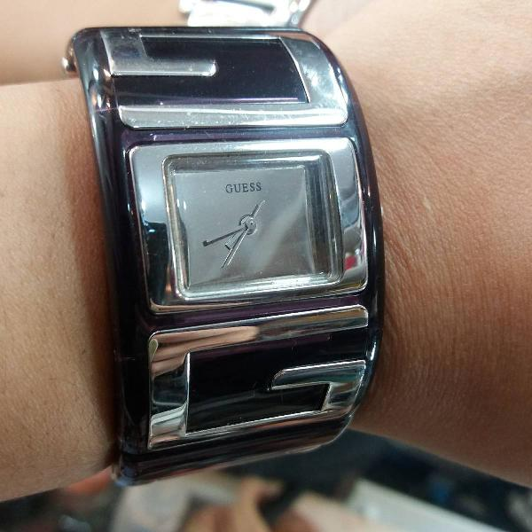relógio pulseira roxo guess
