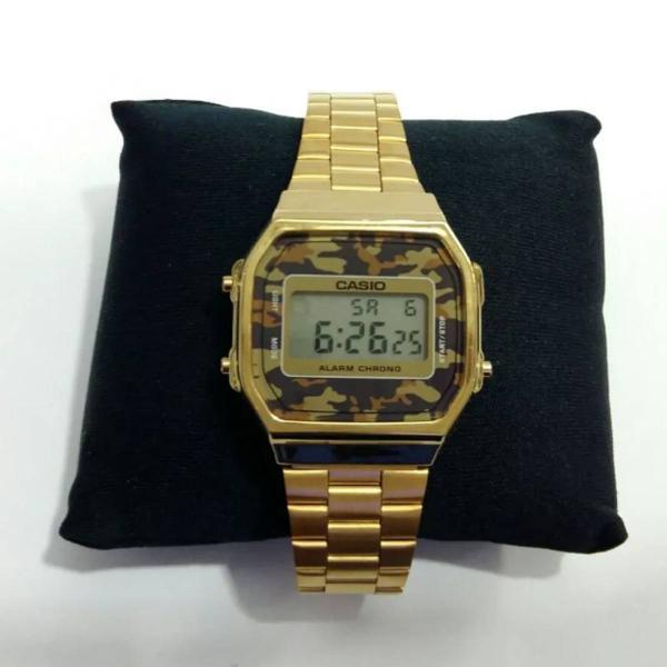 Relógio pulso camuflado unissex cassio retrô vintage
