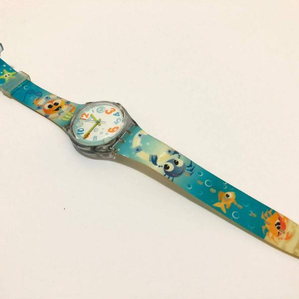 Relógio swatch divertido - oceano