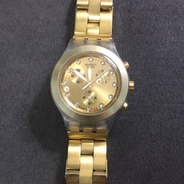 Relógio swatch dourado original