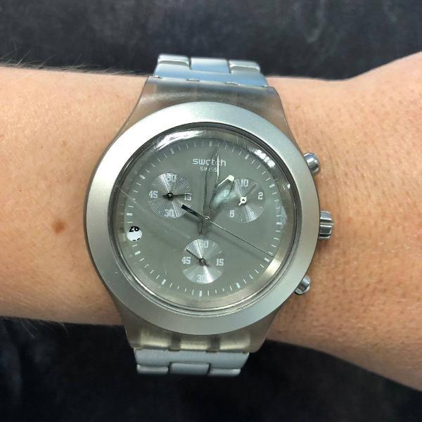 Relógio swatch prata original
