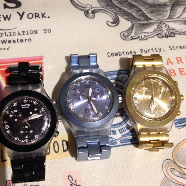 Relógio swatch preto novo pouco uso