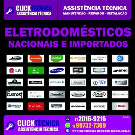 Assistência, manutenção eletrodomésticos nacionais e