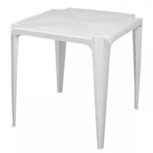 Mesa de plástico para 4 cadeiras branca nova (apenas a