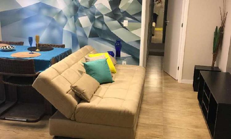 Apartamento com 1 quarto para alugar, 57 m² por r$