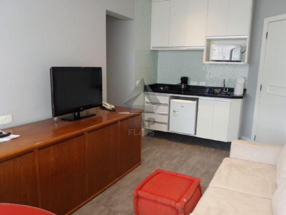 Flat com 1 quarto para alugar, 42 m² por r$ 1.200/mês cod.