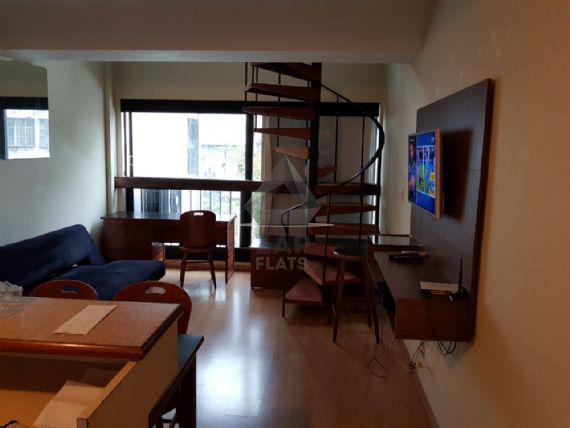 Flat com 1 quarto para alugar, 44 m² por r$ 1.400/mês cod.