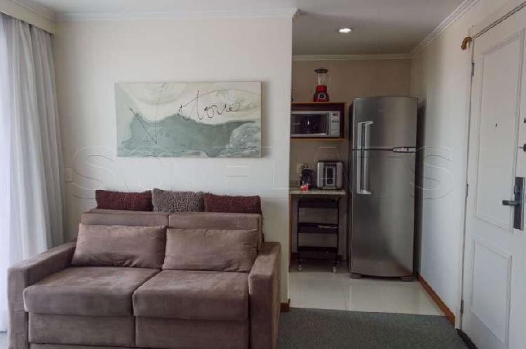 Flat com 1 quarto para alugar, 52 m² por r$ 1.900/mês cod.