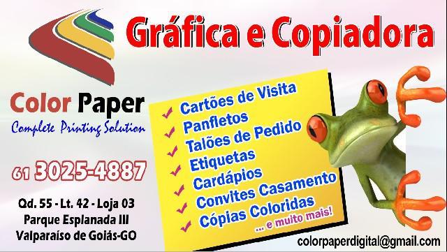 Gráfica - panfletos- cartões de visita