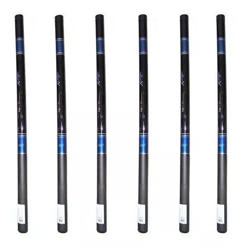 Kit 7 varas telescópicas xingu top - 3 de 3,30 + 4 de 3,60m
