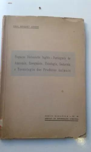Livro peq dicionário ing-port anatomia ezoognósia