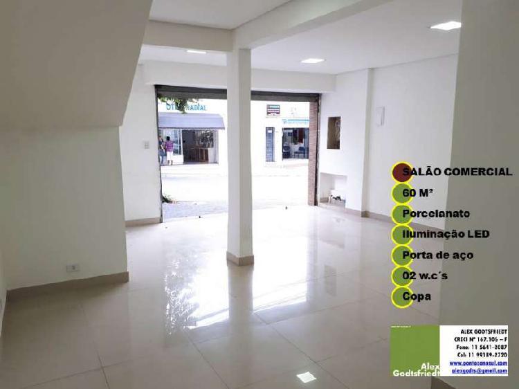 Loja comercial para alugar, 60 m² por r$ 2.800/mês cod.