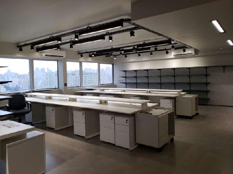 Sala comercial para alugar, 218 m² por r$ 11.000/mês cod.