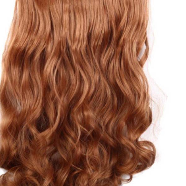 Aplique de cabelo cor loiro mel