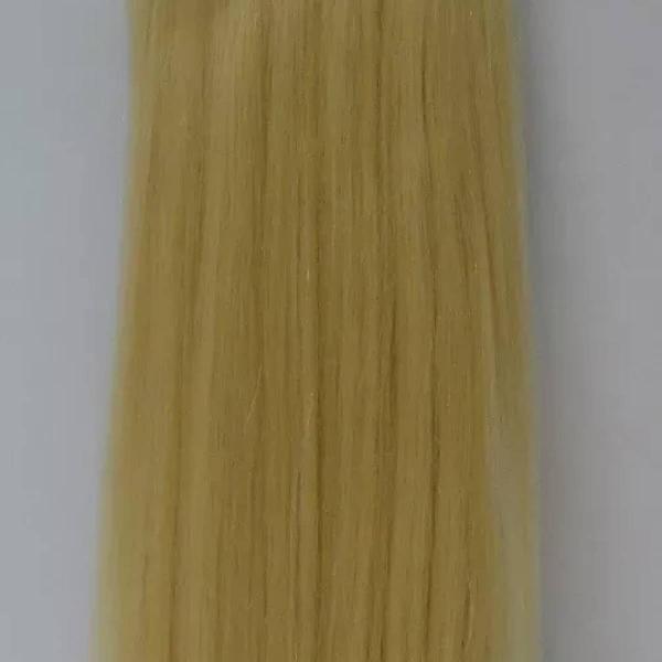 Aplique loiro claro liso 100% cabelo humano cor 613