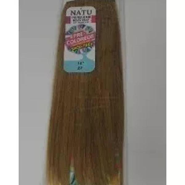 Aplique loiro escuro, longo liso 100% cabelo humano