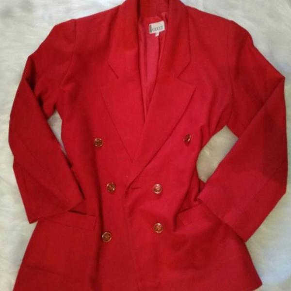 Blazer feminino vermelho gucci vintage