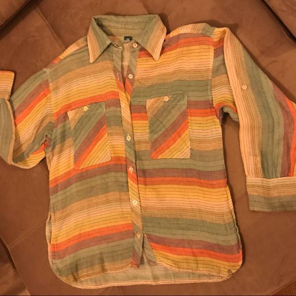 Camisa de botão colorida farm