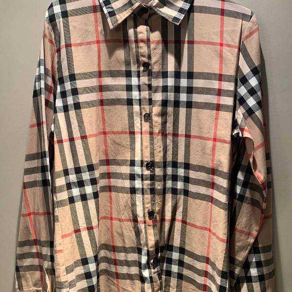 Camisa estampa burberry